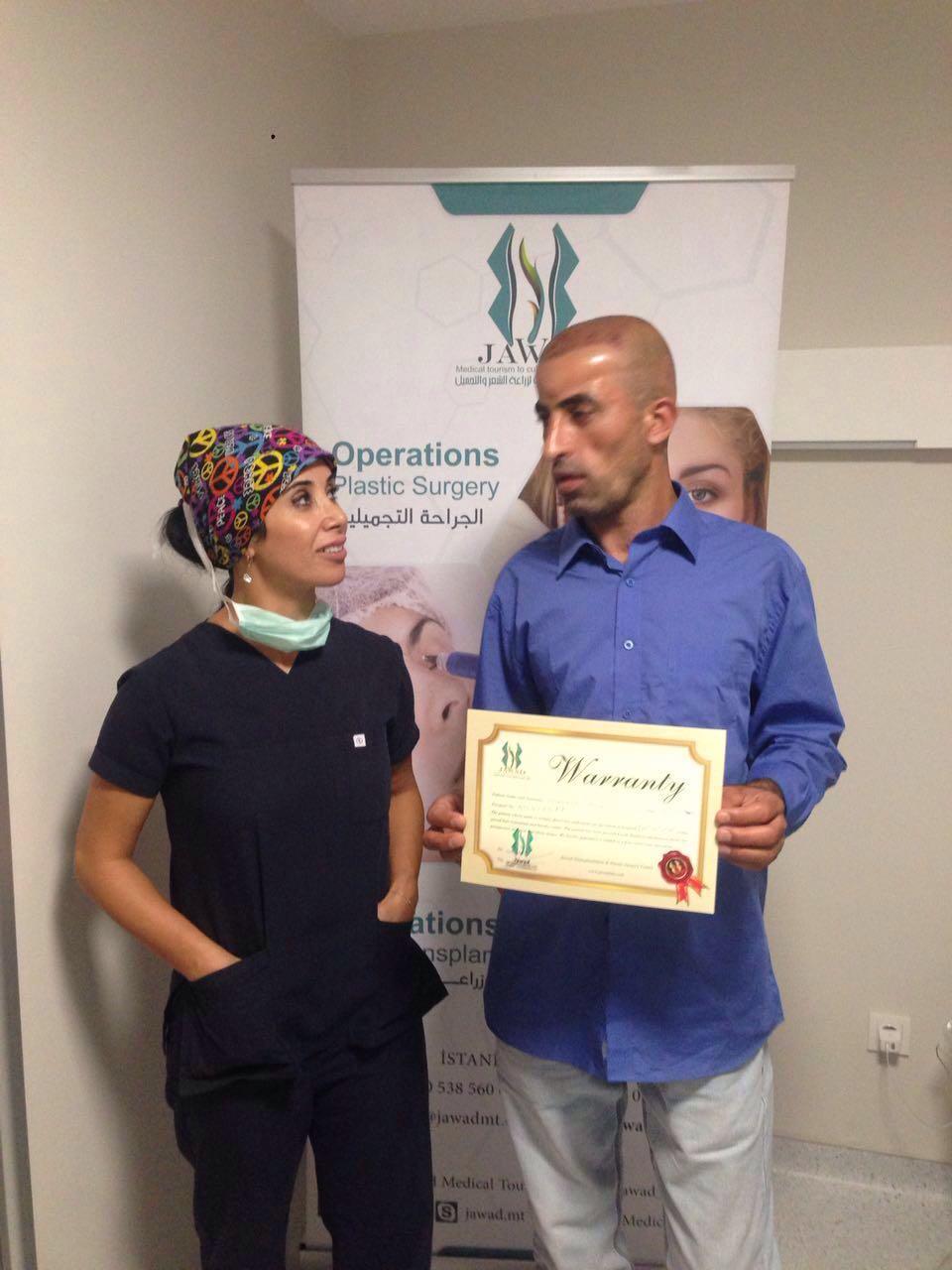 تجربة السيد شاهرامي اريان | زراعة الشعر في تركيا مركز جواد